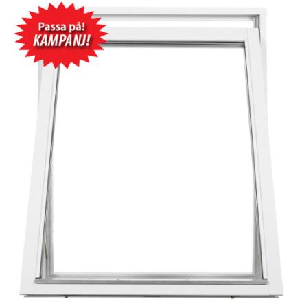 Vridfönster 3-glas Vit Superenergi