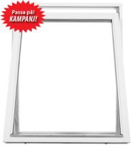 Vridfönster 3-glas Vit U-värde 1.1