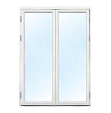 Fönsterdörr 3-glas Pardörr Trä-Alu Vit