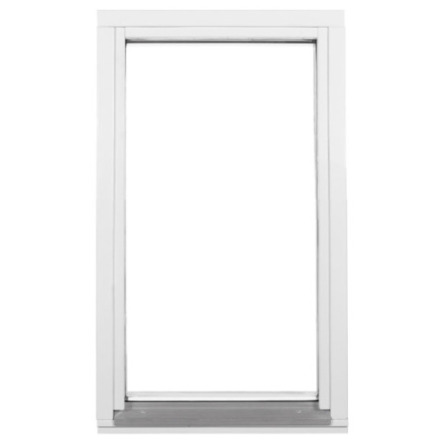 Fast fönster 2-glas Vit